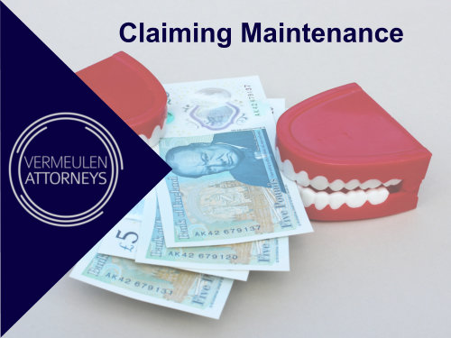 Claiming maintenance for your child